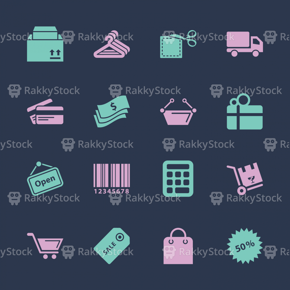 Shopping Icons - Color Series | EPS10