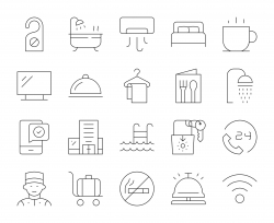 Hotel - Thin Line Icons