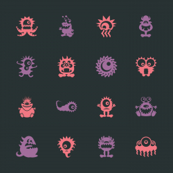 Monster Icons - Color Series | EPS10