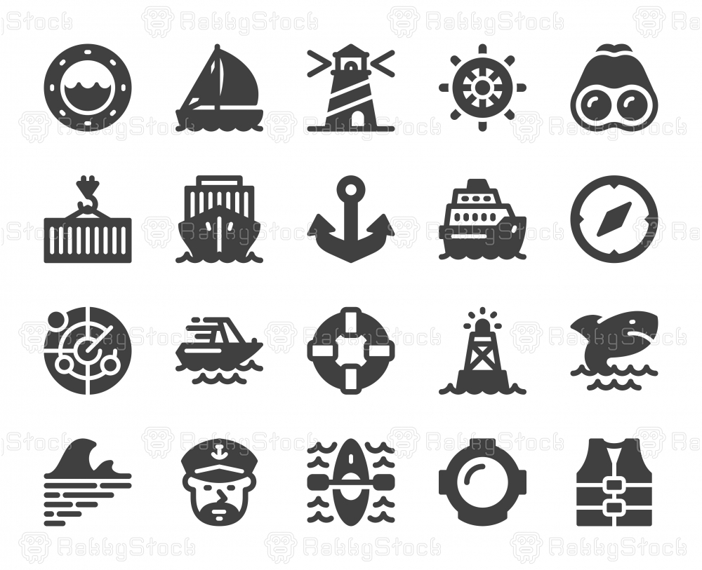 Nautical and Harbor - Icons