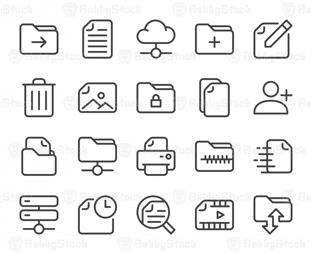 Storage Management - Line Icons