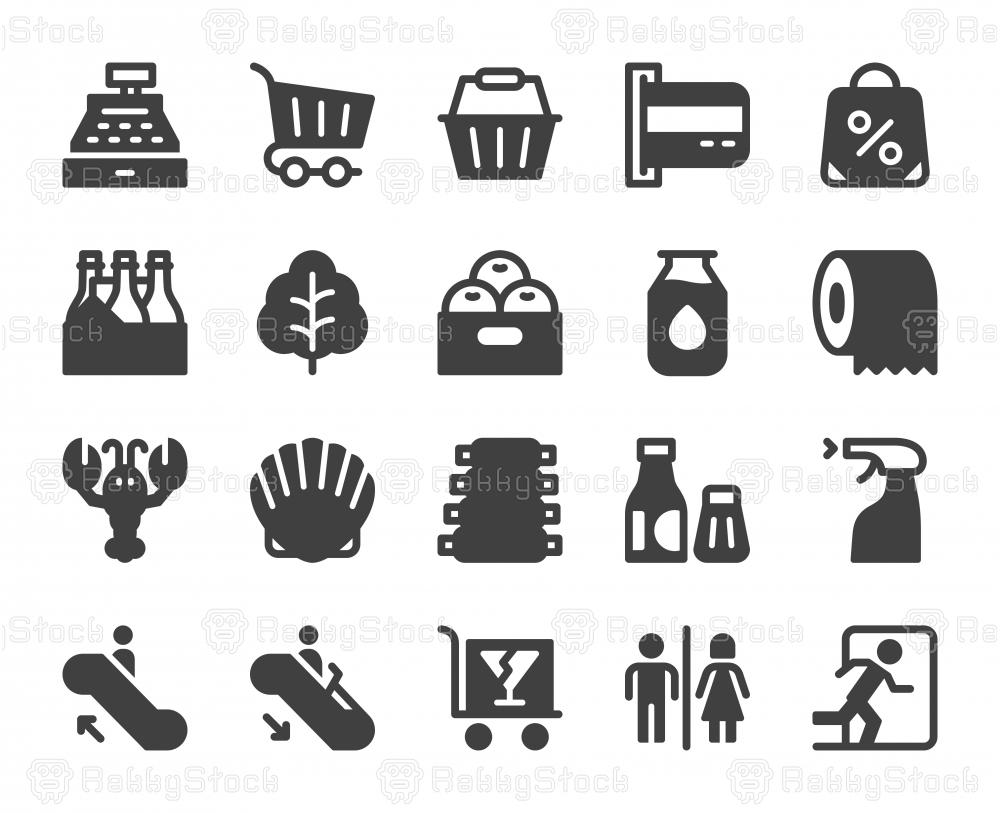 Supermarket - Icons