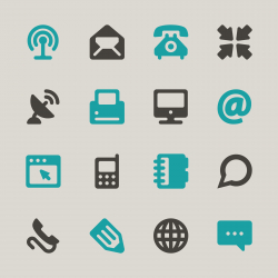 Communication Icons Set 1 - Color Series   EPS10