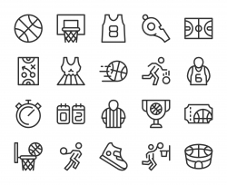 Basketball - Line Icons
