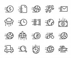 Speed Concept - Line Icons