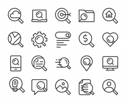 Searching Concept - Line Icons