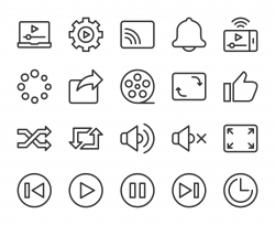 Video Streaming - Line Icons