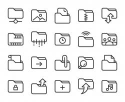 Folder - Line Icons