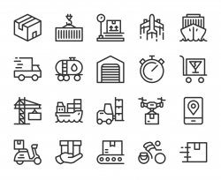 Logistics and Shipping - Line Icons