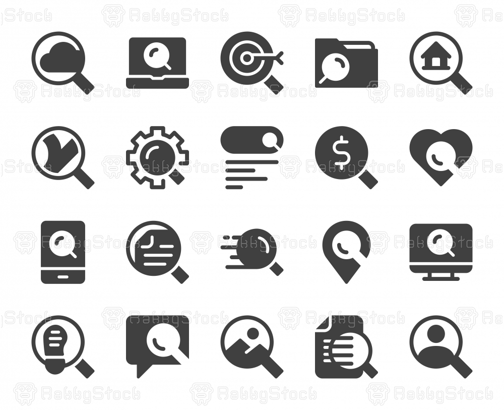 Searching Concept - Icons