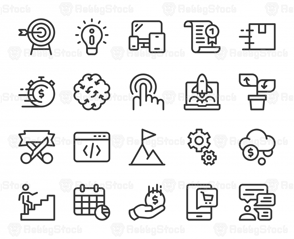 Startup Business - Line Icons