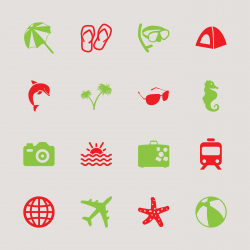 Travel and Vacation Icons 1 - Color Series | EPS10