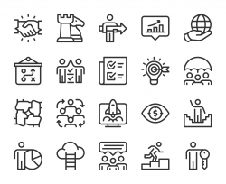 Corporate Development - Line Icons