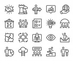 Corporate Development - Line Icons