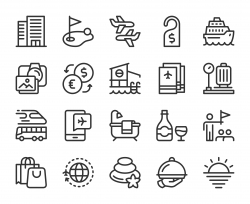 Business Travel - Line Icons
