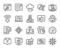 Internet Marketing - Line Icons