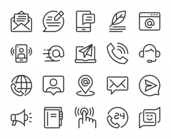 Contact Us - Line Icons