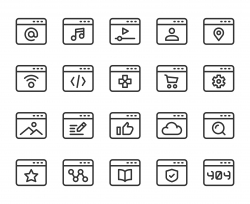 Web Page - Line Icons