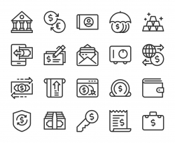 Banking and Accounting - Line Icons