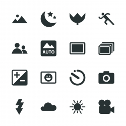 Camera Menu Silhouette Icons | Set 1