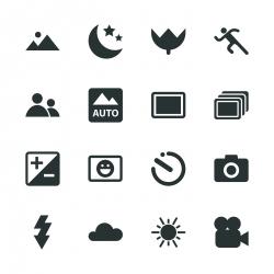Camera Menu Silhouette Icons | Set 1
