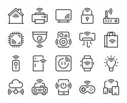 Internet of Things - Line Icons