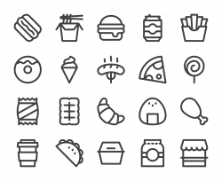 Fast Food - Bold Line Icons
