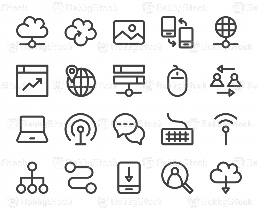 Internet - Bold Line Icons