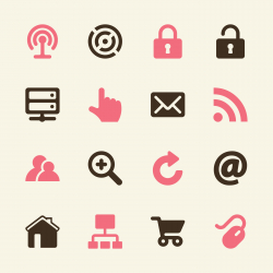 Internet and web Icons - Color Series   EPS10