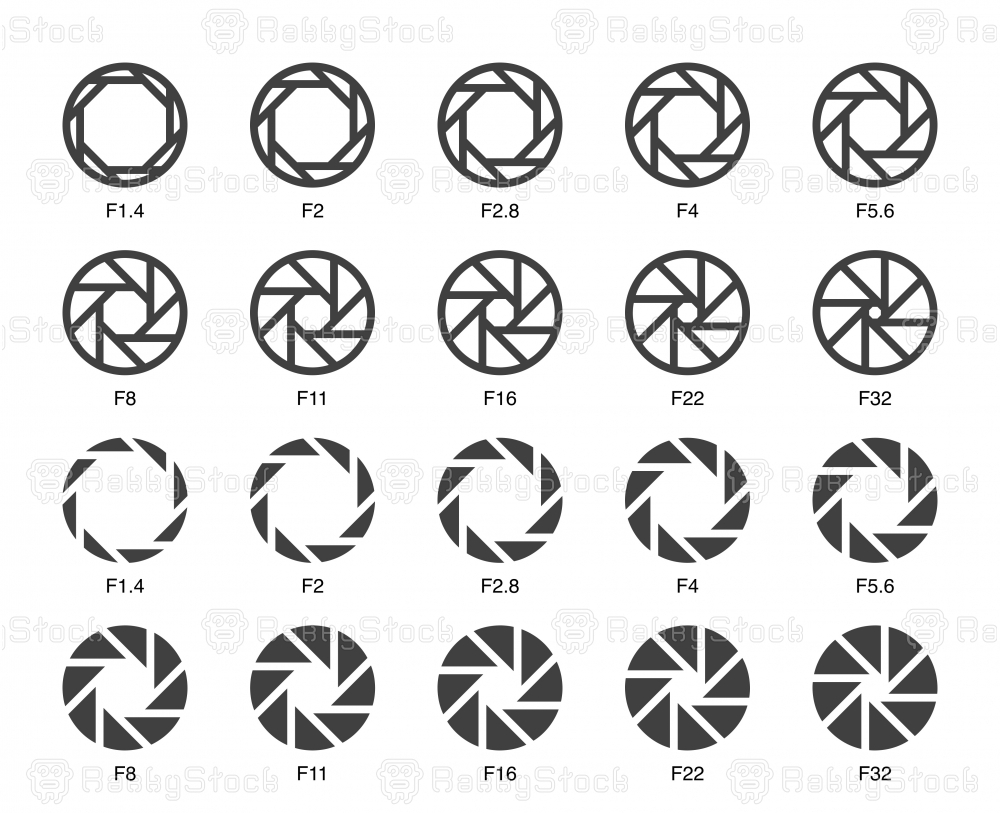 Size of Aperture Set 3 - Multi Bold Icons