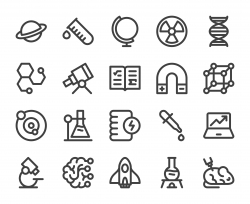Science - Bold Line Icons