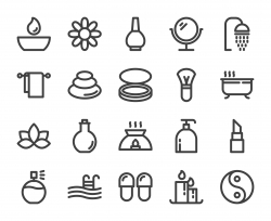 Spa and Beauty - Bold Line Icons