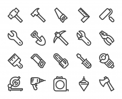 Work Tool - Bold Line Icons