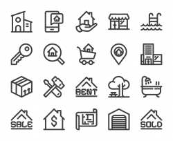 Real Estate - Bold Line Icons