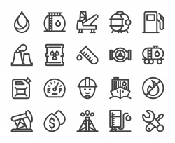 Fuel Industry - Bold Line Icons