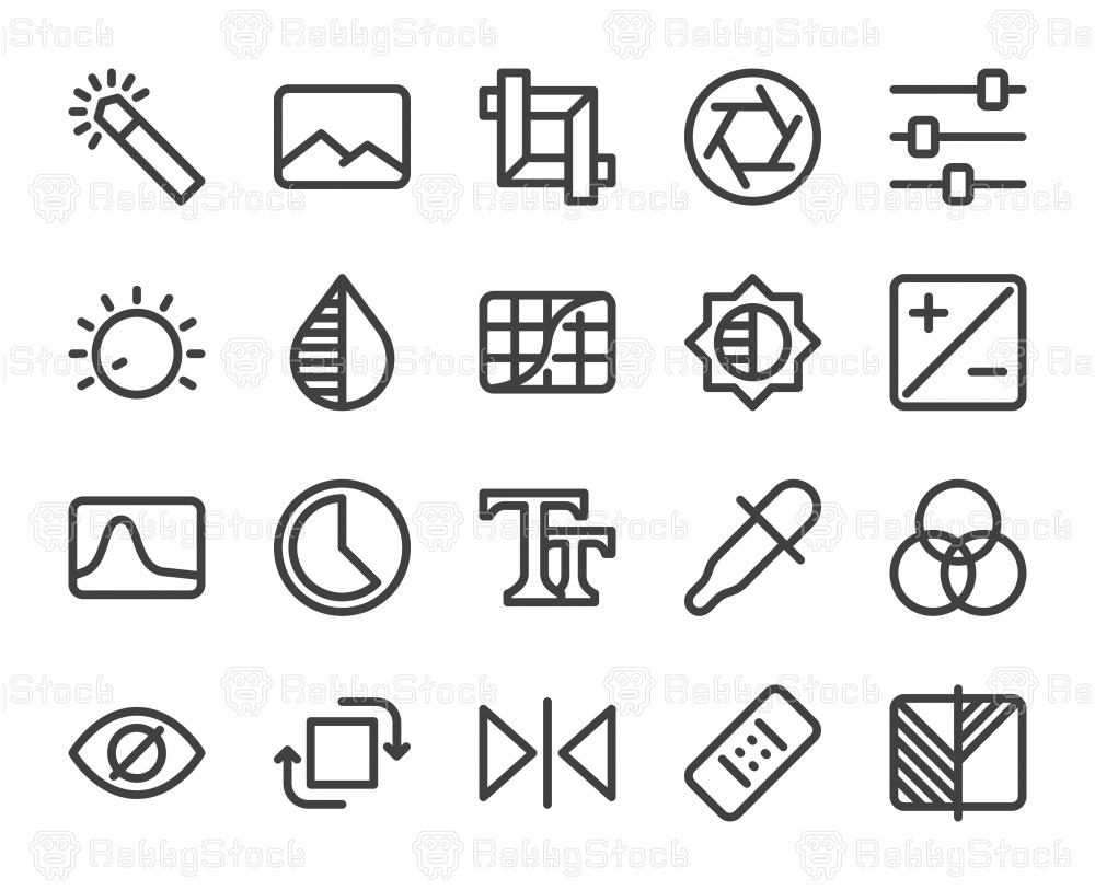 Photo Editor - Bold Line Icons