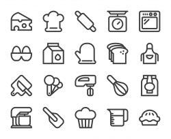 Baking and Bakery - Bold Line Icons
