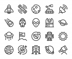 Space - Bold Line Icons