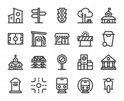 City Element - Bold Line Icons