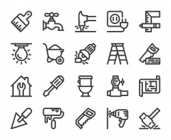 Home Repair - Bold Line Icons