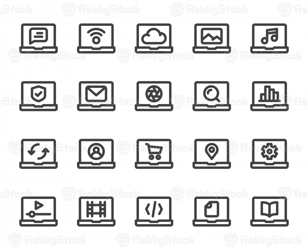 Laptop - Bold Line Icons