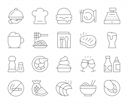 Restaurant - Thin Line Icons