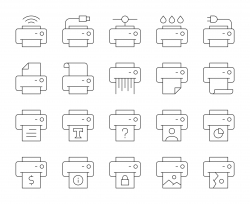 Printer - Thin Line Icons