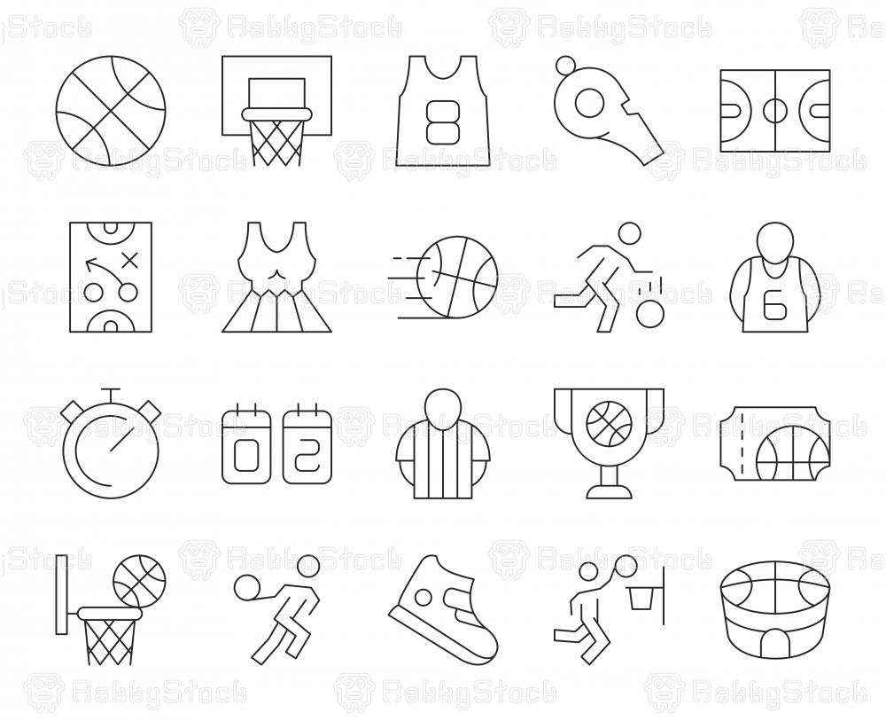 Basketball - Thin Line Icons