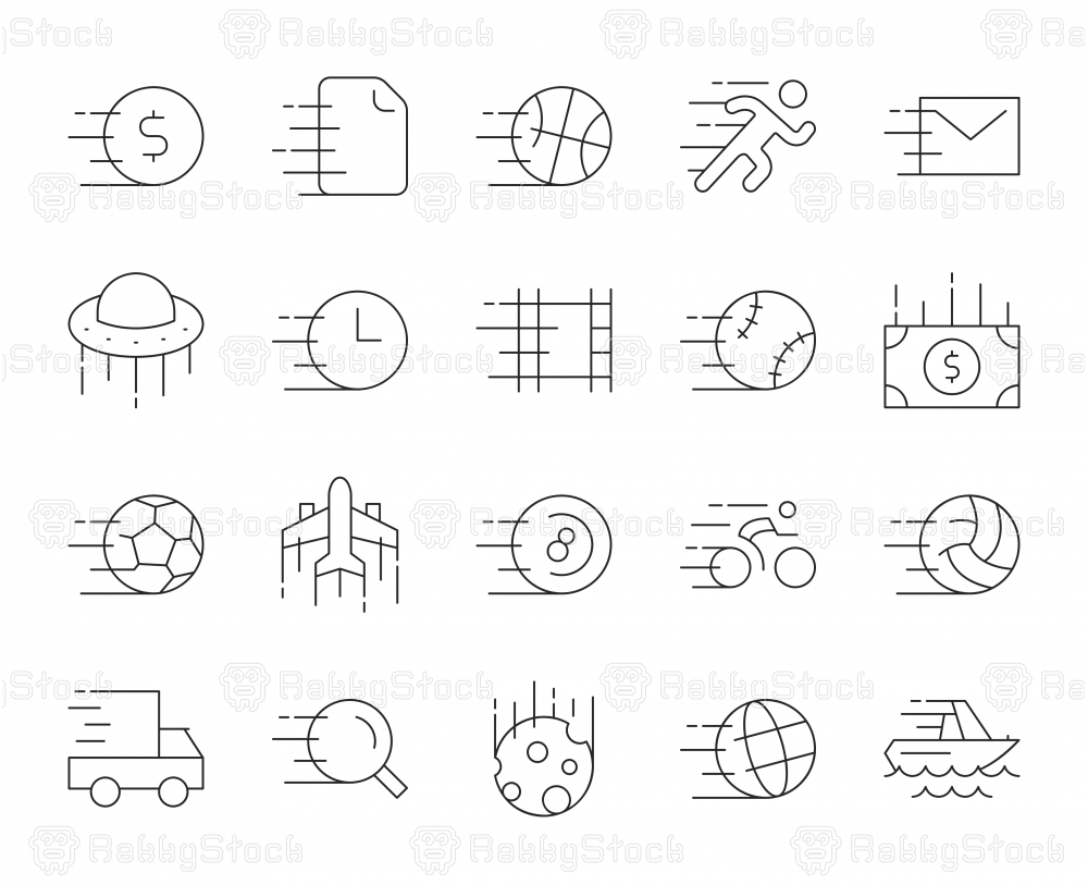 Speed Concept - Thin Line Icons