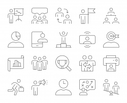 Business Management - Thin Line Icons
