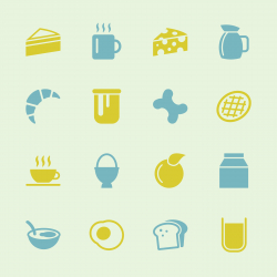 Breakfast Icons - Color Series | EPS10