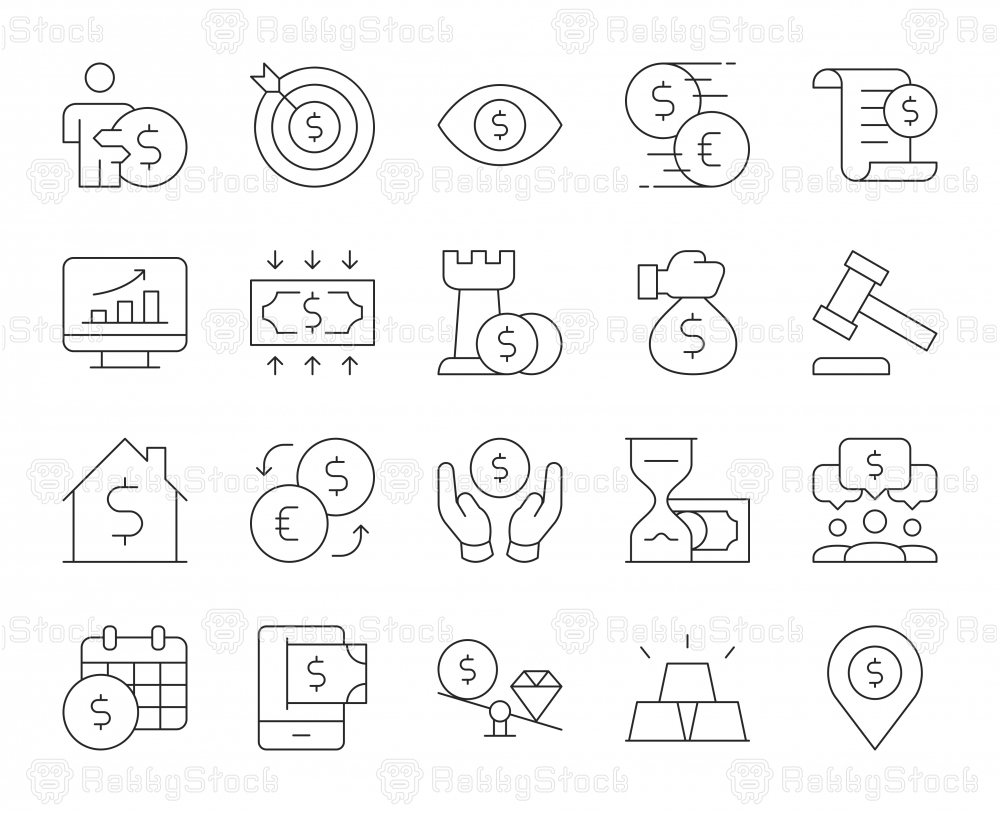 Business and Investment - Thin Line Icons