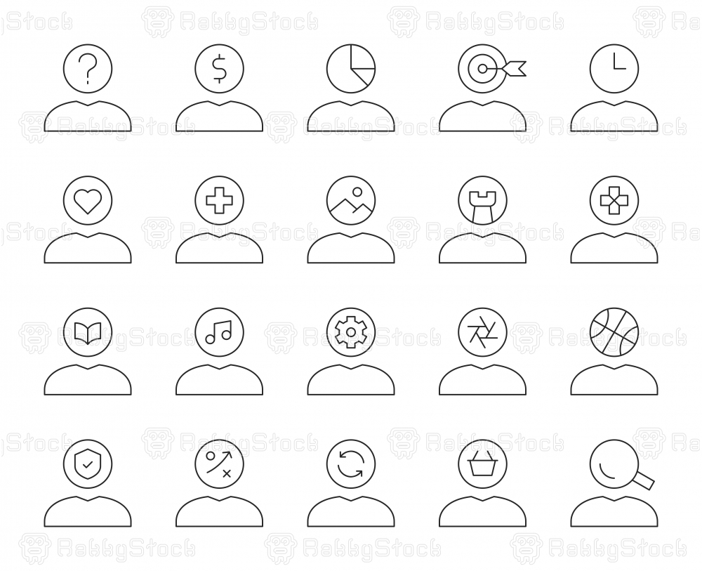 Human Mind Thinking - Thin Line Icons