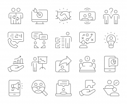 Business Consulting - Thin Line Icons